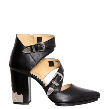 Toga Pulla Leather cut-out ankle boots