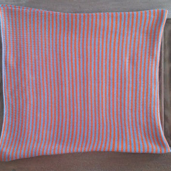 Sky - 100% Bamboo knitted baby blanket
