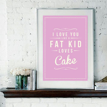 Retro Inspirational Quote Giclee Art Print by RockTheCustardPrints
