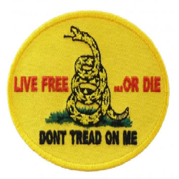 Don't Tread on Me Large Back Patch for Patriot Motorcycle Biker Vest Jacket Tea party