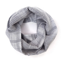 Blue Striped Scarf Kid Scarf Girl Scarf Cotton Child Scarf Child Infinity Scarf Boy Scarf Unisex Scarf Blue White Gift Idea Ready to Ship