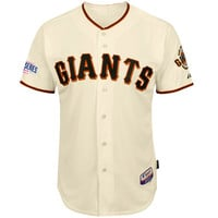 San Francisco Giants Authentic Buster Posey Home Jersey w/2014 World Series Patch - MLB.com Shop