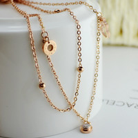 New Arrival Ladies Gift Stylish Jewelry Shiny Sexy Cute Double-layered Anklet [8169870471]