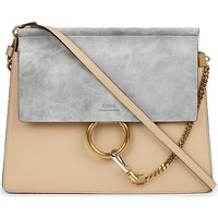 CHLOE - Faye suede & leather satchel | Selfridges.com