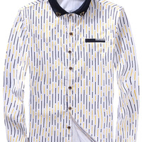 Stripe Pattern Button Down Shirt For Man