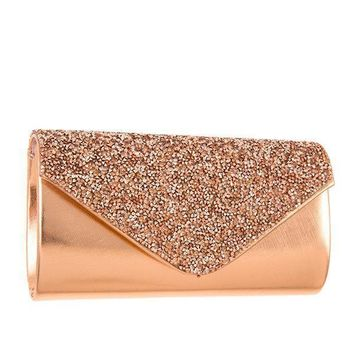 Rhinestone Encrusted Pave Evening Clutch Bag + 2 More Colors