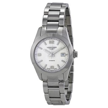 Longines Conquest Classic Automatic Silver Dial Stainless Steel Ladies Watch