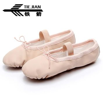 TIEJIAN Women Ballet Dance Shoes zapatos baile Breathable PU Gym Yoga Practice Scarpe Ballo For Girls/Women/Ladies Sneakers 21