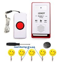 LEAGY Wireless System Remote Call Button Nurse System Caregiver Pager Waterproof, Home Alarm & Calling Device Disabled & Waking up Device & Calling Device Elderly& Care Device Pregnant Women