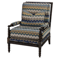 Helen Spindle Chair, Blue/Teal, Club Chairs