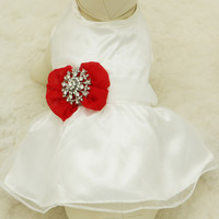 Red Dog Dress,  Pet wedding accessory