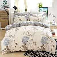 100% Cotton High-quality Bedding Sets Simple Style Bed Sheet Duvet Cover Pillowcase Soft Comfortable King Queen Full Size