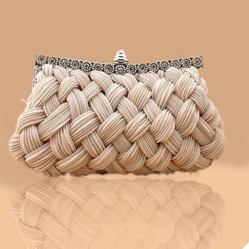 Clutches Evening Bag spring silk Elegant Dinner