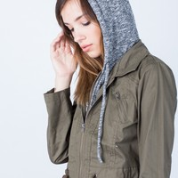 Knit Hooded Utility Jacket