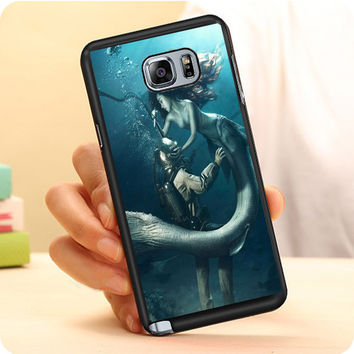 Diver And The Mermaid Samsung Galaxy Note 7 Case Dollarscase.com