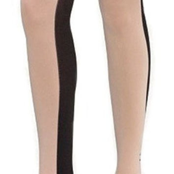 Contrast Panel Tights