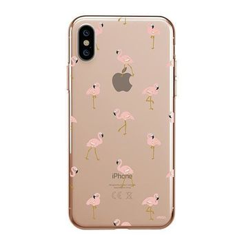 Chillin Flamingo - iPhone Clear Case