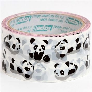Kawaii Jumbo Deco adhesive Tape Stickers  Cute Panda by charmstore