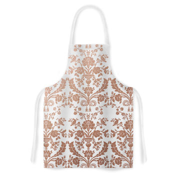"KESS Original ""Baroque Rose Gold"" Abstract Floral Artistic Apron"