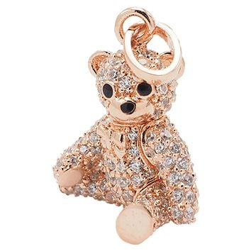 Sprinkles Mama Bear Necklace, Momma Teddy Pendant with Crystals,