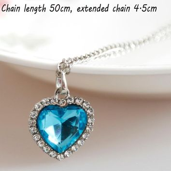 Special Best Vogue Titanic  Latest Heart Of Ocean Funny  Trendy Practical Grateful Necklace New Item