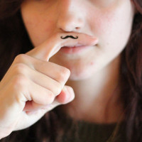 Mini Finger Mustache Temporary Tattoos (Set of 3)