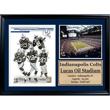 Indianapolis Colts Photo Stat Frame (Black)