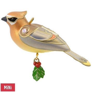 Cedar Waxwing Mini Ornament