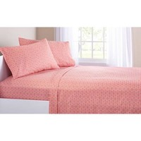 Mainstays Coral Damask Bedding in a Bag Bedding Set - Walmart.com