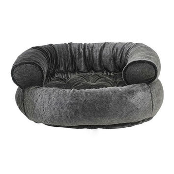 Faux Fur Double Donut Bolstered Dog Bed — Everest