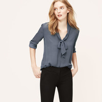 Dotted Bow Neck Blouse
