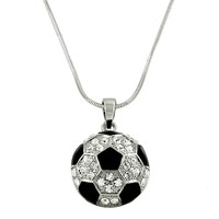 [N/L]-Rhinestone Sports Balls Pendant Necklaces