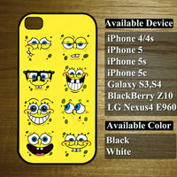 spongebob squarepant case - for iphone 4/4s, iphone 5, iphone 5s, iphone 5c,galaxy s3,s4, LG Nexus4 E960, BlackBerry Z10