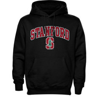 Stanford Cardinal Arch Over Logo Hoodie – Black