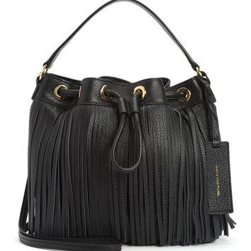 TOPANGA FRINGE LEATHER DRAWSTRING