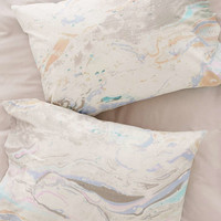 Mixed Marble Pillowcase Set - Urban Outfitters