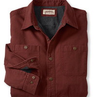 Water-Resistant Fleece-Lined Canvas Shirt, Traditional Fit: Flannel, Chamois and Lined | Free Shipping at L.L.Bean