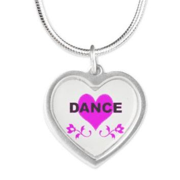 Dance Heart Silver Heart Necklace