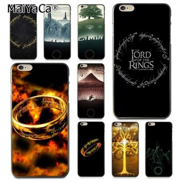 MaiYaCa LORD OF THE RINGS Diy Printing Drawing TPU  phone case for Apple iPhone 8 7 6 6S Plus X 5 5S SE 5C Cover