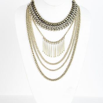 Bits and Pieces Brass Necklace