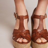 Anthropologie T-Strap Platform Sandals