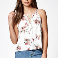 LA Hearts Notch Neck Floral Print Woven Top at PacSun.com