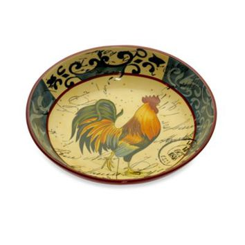 Certified International in Lille Rooster by Geoffrey Allen 13-Inch Pasta/Serving Bowl