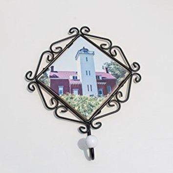 Coat Hook, Wrought Iron, Forty Mile Point Lighthouse Design