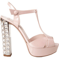 Miu Miu T-Strap Jeweled Heel Sandal at Barneys.com