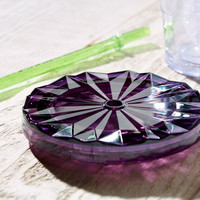 Starbucks® Faceted Flat Lid - Purple