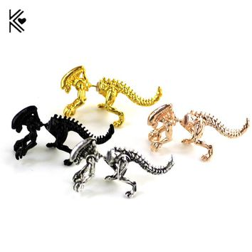 New The Aliens Dinosaur Ear Clip 4 Color Earrings Animal Piercing Ear Jewelry Can Dropshipping Gift For Women Fashion Jewelry