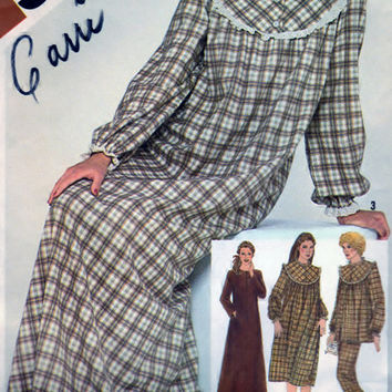 Simplicity 9783 DIY Sewing Pattern Misses Pullover Nightgown In Two Lengths, Pajamas And Robe