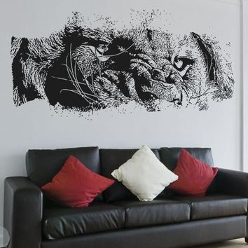 Vinyl Wall Decal Sticker Lion Eyes #5523