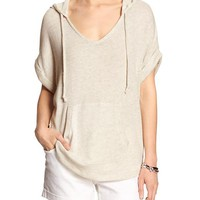 Banana Republic Womens Factory Short Sleeve Pullover Hoodie